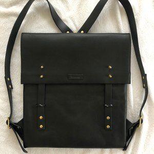 Miansai Leather Santon Backpack, Textured Black